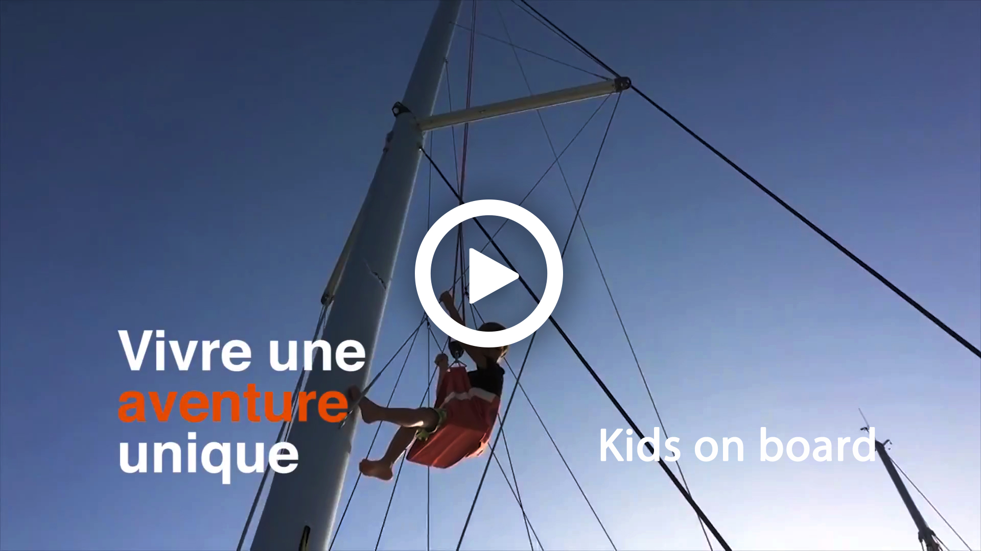 Sailing video to sale - Kids on board charter video