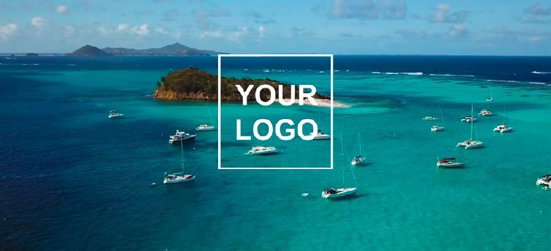 Sailing video to sale - Your logo beginning